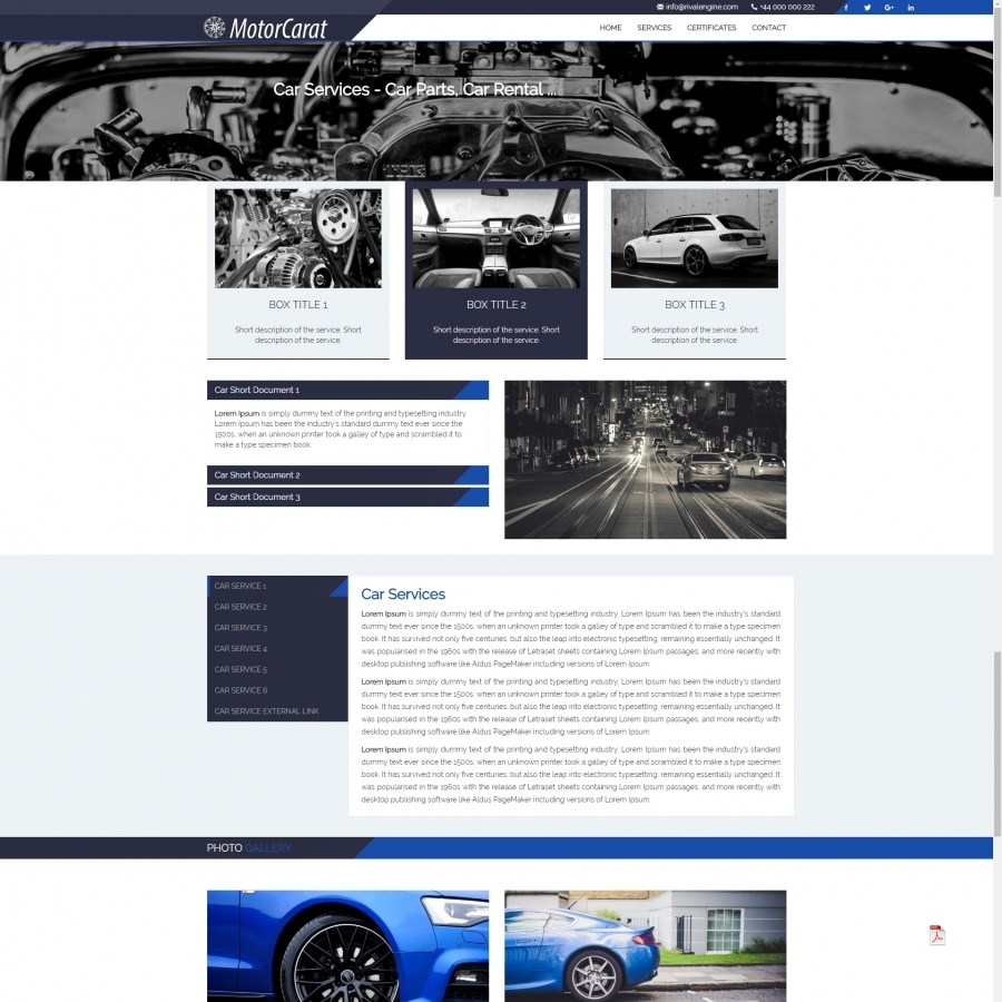 Auto Car Responsive Template