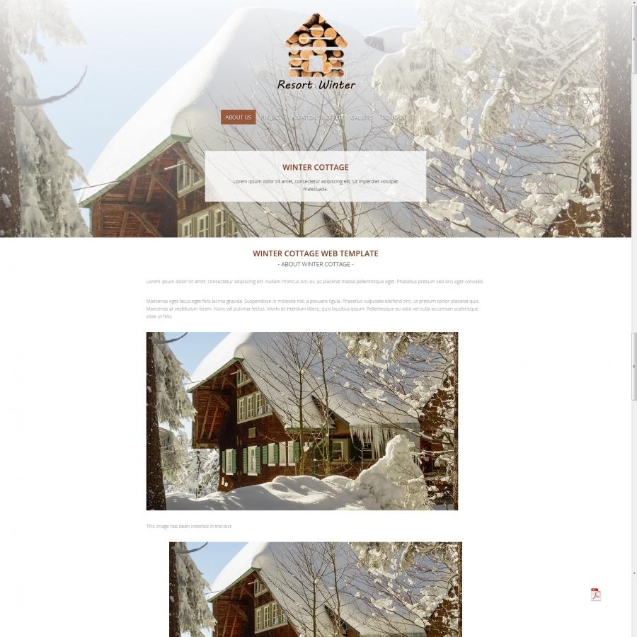 Resort Web Template