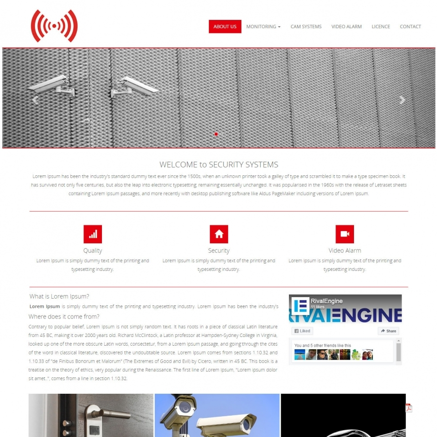 Security Systems Web Template